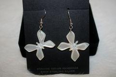 Mother-of-Pearl Butterfly Earrings - ER103