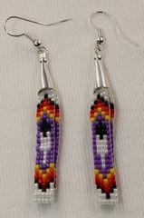 Navajo Made Beaded Loop Earrings - ER468
