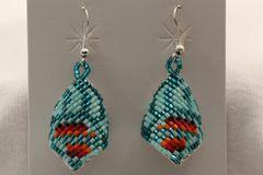 Navajo Beaded Earrings - ER856
