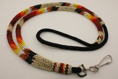 Navajo Full Beaded Lanyard - L2804 - SOLD