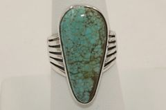 Number 8 Mine Turquoise Ring - N8950 - SOLD