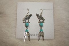 Wolf Earrings - ER131 - SOLD
