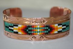 Navajo Copper Beaded Bracelet - BR1557 - SOLD