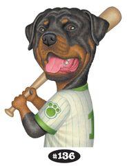 """Rottweiler Baseball Player Print - 8.5"""" x 11"""""""