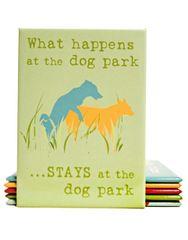 Decorative Magnet: Dog Park