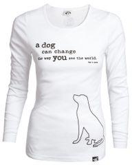 Dog is Good Ladie's LS Tee Change the World