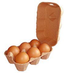 Eton 3 X 6 Egg Boxes, Coffee