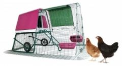 Omlet Eglu Go up Purple Frame, Wheels & 2m Run Free P&P&Pack
