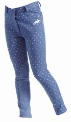 Harry Hall Junior Jodhpurs Etton Heart Design in Blue