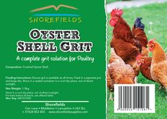 Shorefields Poultry Oystershell Grit 1.5kg