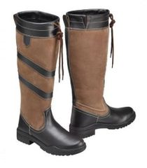 Harry Hall Long Country Rio Boots in Brown Size UK8