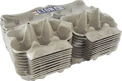 Eton free range, white flat top, pre printed egg boxes. pack of 20 1/2 dozen