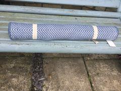 Recycled Plastic Bottle Floor Rugs- Herringbone Navy