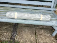 Recycled Plastic Bottle Floor Rugs-Herringbone Dove-Grey
