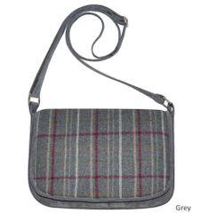 Tweed Saddle Bag - Grey