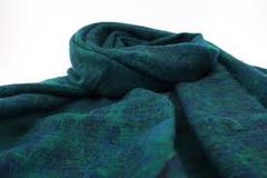 Nepalese Yak Shawl - Green-Blue