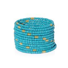 Teal Seed Bead Wrap Bracelet 2016012