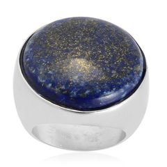 LAPIZ LAZULI RING IN STAINLESS STEEL (size 7) A10503