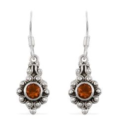 Artisan Crafted Jalisco Fire Opal (Rnd) Earrings in Sterling Silver Nickel Free TGW 0.52 Cts.