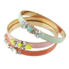 Multi layer Rhinestone Bangle (4pcs/set) LI -1001