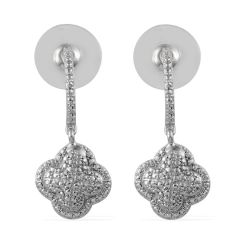 Diamond Accent Earrings in Platinum Bond Brass A 10493