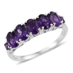 Lusaka Amethyst Platinum Over Sterling Silver Ring, Accented with vintage patterns 2016017