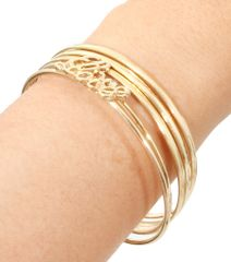 Gold metal bangle bracelet with hope words. Gold Plating / Material.