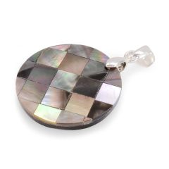 Shell Pendant with Chain in Stainless Steel, Pendent in Silver-tone A10458