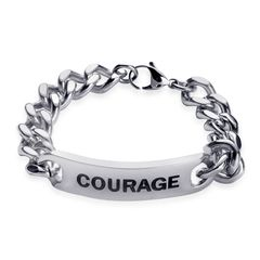 Courage Bracelet in Stainless Steel (8.5 in)