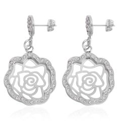 Austrian Crystal Earrings in Stainless Steel