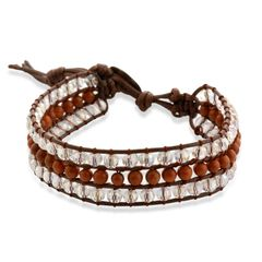 RED GOLDSTONE, FACETED GLASS BRACELET (7.5 In) TGW 15.00Cts.