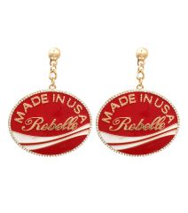 Made in USA Rebelle Earrings, 2.5 Inches Long