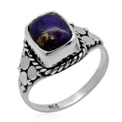 Bali Legacy Collection Mojave Purple Turquoise (Cush) Ring in Sterling Silver Nickel Free (Size 8) TGW 2.370 cts.