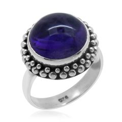 BALI LEGACY COLLECTION AMETHYST (RND) RING IN STERLING SILVER NICKEL FREE (SIZE 7) TGW 6.37 Cts.