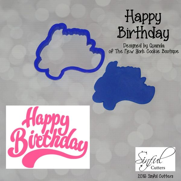 Happy Birthday Cookie And Fondant Cutter