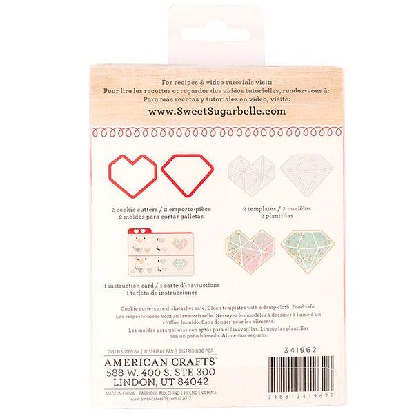 2 Piece Valentines Geometric Heart Diamond Cookie Cutters Sweet