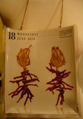 Coral/Gold Jewelry Luxury Miniature Magazine Purse