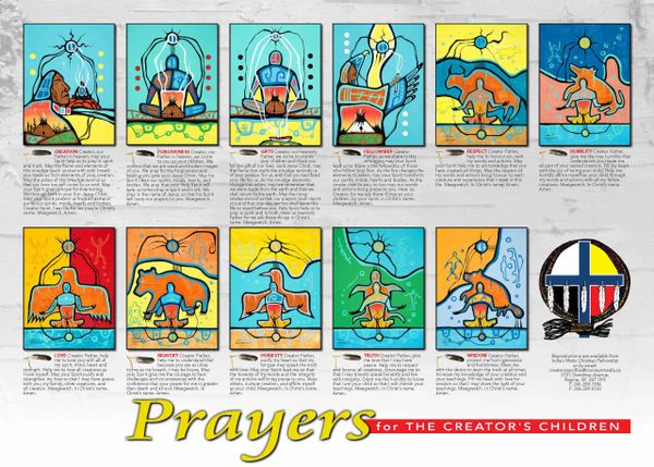 "Prayers for the Creators Children 18"" x 12"" poster"