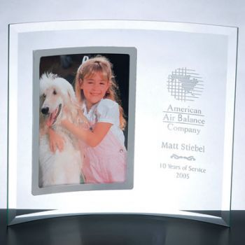 Curved Glass Vertical Photo Frame