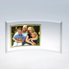 Curved Glass Horizontal Photo Frame