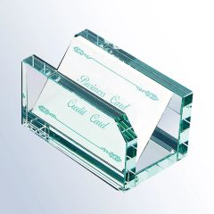 Jade Glass Notepad & Cardholder