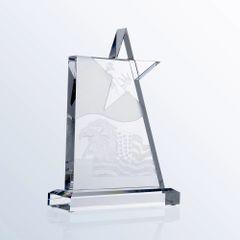 Clear Glass Star Award
