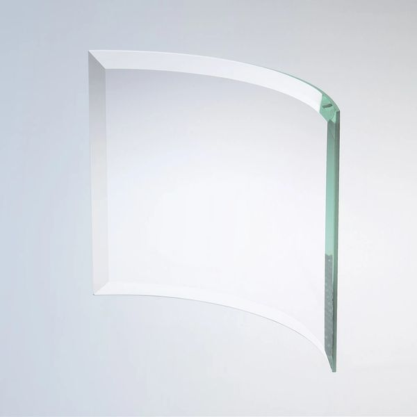 Jade Glass Beveled Crescent