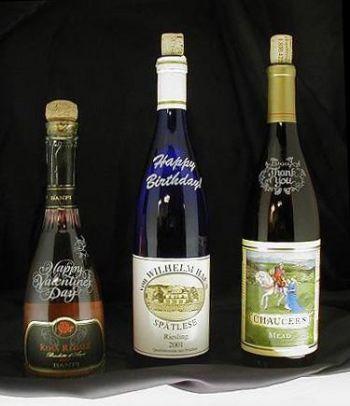 Wine Bottle Etching