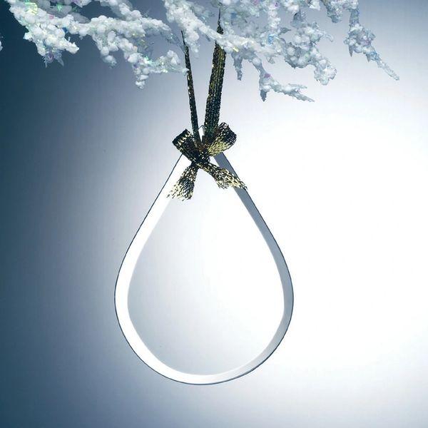 Tear Drop Jade Glass Ornaments