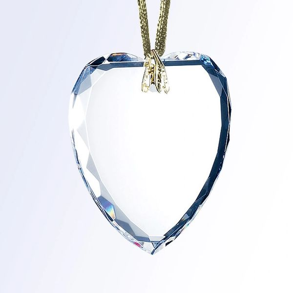 Heart Optical Crystal Glass Ornament