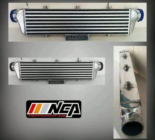 "27X6X2.5 FRONT MOUNT INTERCOOLER ALUMINUM TURBO BAR&PLATE 2.25""INLET/OUTLET"