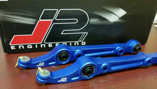 J2 FRONT LOWER SPHERICAL CONTROL ARM KIT FOR 92-95 CIVIC / 94-01 INTEGRA BLUE