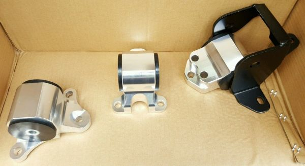 96-00 HONDA CIVIC EK EJ 3-BOLT ALUMINUMENGINE MOUNT KIT B SERIES B16 B18 B20