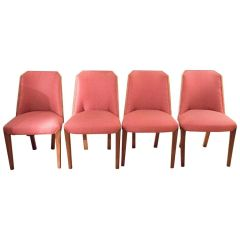 SOLD! Set of 4 1930's Biedermeier Style Deco Chairs
